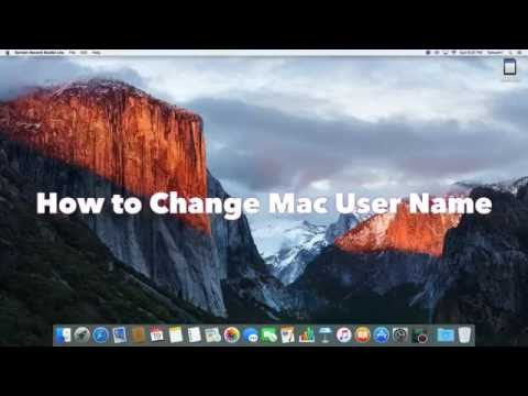 How to change Mac User Name
