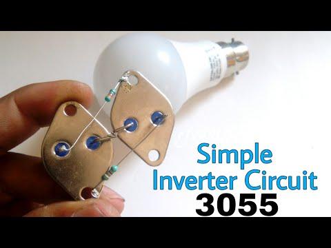 Simple Inverter 12 to 220v using 3055 transistor