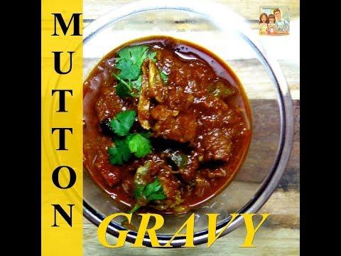 Mutton gravy tamil style recipe in pressure cooker using  kerosene stove
