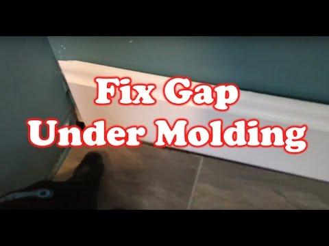 How to Fix Gap under a Floor Molding - Quick Fix