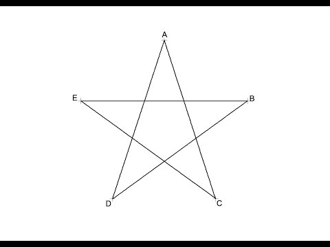 How to draw a five pointed star