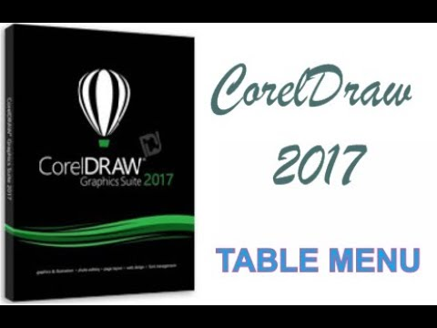 COREL DRAW 2017 USING TABLE MENU HINDI URDU PART 50
