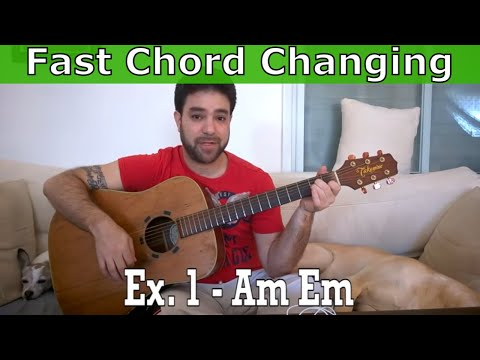 How to Change Chords Quickly & Smoothly (22 Exercises) - Beginner Guitar Lesson Tutorial