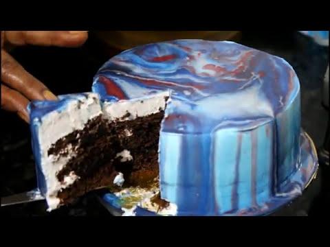 How To Make Mirror Jell Chocolate Cake | Recipe By Desi Zaiqa