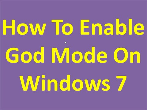 How To Enable God Mode On Windows 7