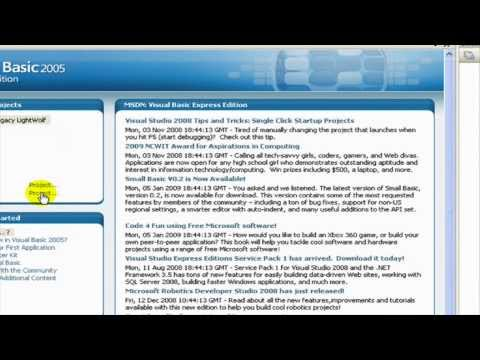 Visual Basics 2005/2008 - How to create a Simple Web Browser (HD)