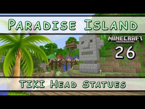 Minecraft :: Paradise Island :: TIKI Head Statues :: E26