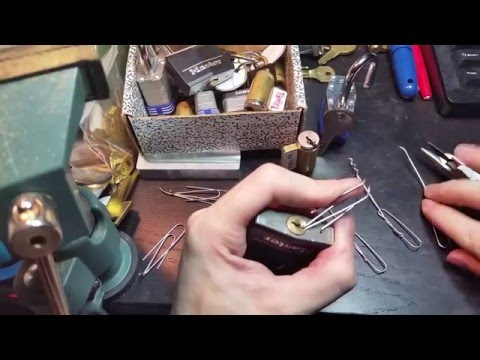 (62) Make lockpicks out of paperclips