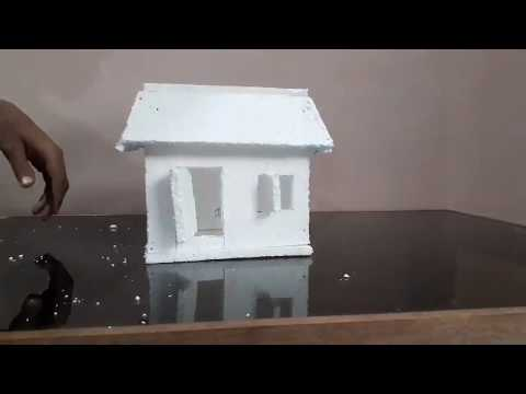 How to make thermocol small and easy model house