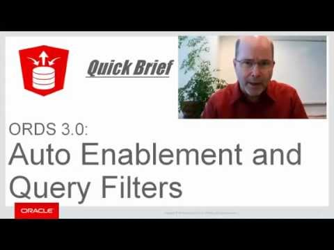 ORDS 3.0 Quick Briefings Overview