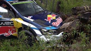 Crash Jari-Matti Latvala WRC Rally Germany Test 2016 | Veldenz