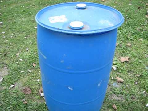 55 gallon Chicken Feed Barrel