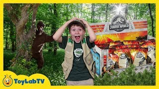 By Toylabtv Dinosaur Surprise Toy Hunt Adventure With Giant Prehistoric Bigfoot Jurassic World Kids Toys