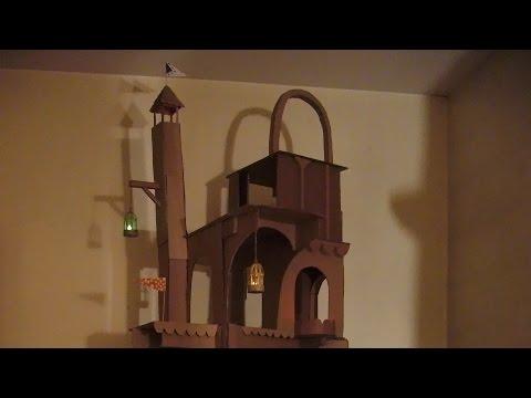 Cardboard cat tower