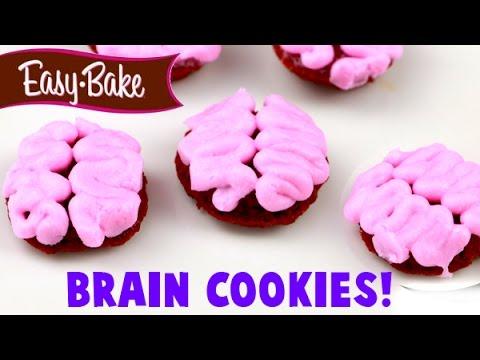 Easy Bake Oven Halloween Brain Red Velvet Cookie Tutorial