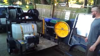 Power washing trailer