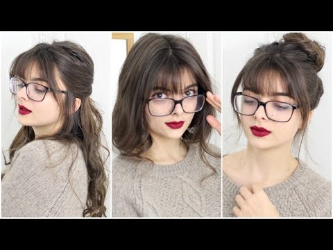 Super Easy & Cute Hairstyles For Bangs + Glasses