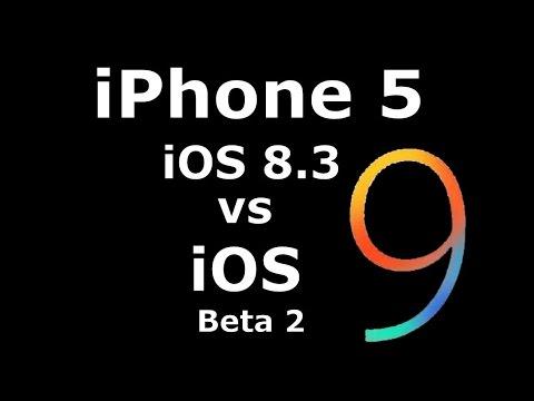 iOS 9 Beta 2 vs 8.3 on iPhone 5