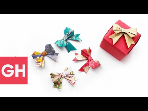 Festive DIY Holiday Gift Bows with @OrigamiTree | GH