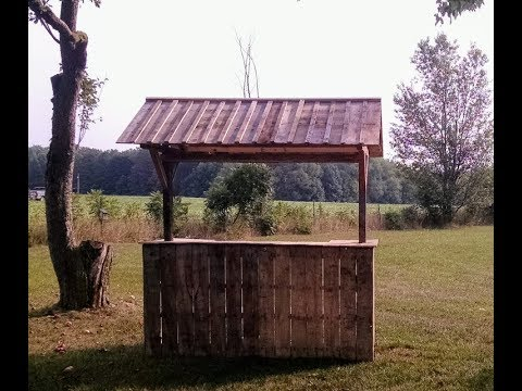 DIY $11.00 Lemonade / Produce Stand with Pallets