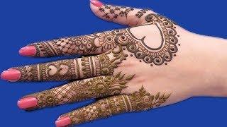Mehndi design for back hands | Beautiful Henna design for back hands