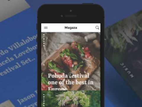 Magaza Ionic 2 News/Magazine/Blog theme demo