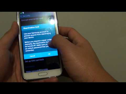 Samsung Galaxy S5: Prevent Other People Using Your Lost Phone Even After a Hard Reset