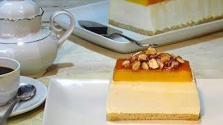 receta Tocinillo del cielo con mousse de Ricotta y bizcocho de almendra - Recetas de cocina