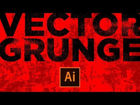 How to Make Vector Graphic Grunge Effects - Adobe Illustrator CC Tutorial