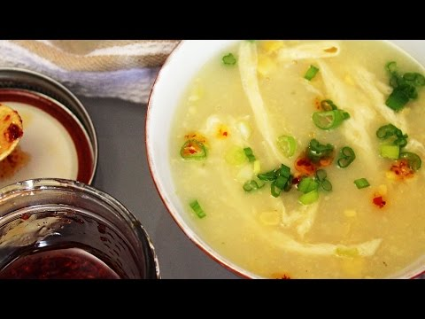 Chinese Cream Corn Soup // Vegan Egg Drop Soup | Mary's Test Kitchen