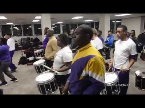 Miles College Marching Band - Percussion Section (Band Room) - 2015