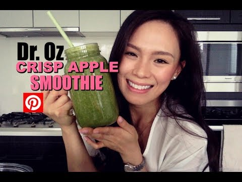 DR. OZ APPLE CRISP SMOOTHIE | Pinterest Recipe | LOSE 2LBS Overnight?!
