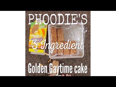 Phoodie's  3 Ingredient Golden Gaytime Cake