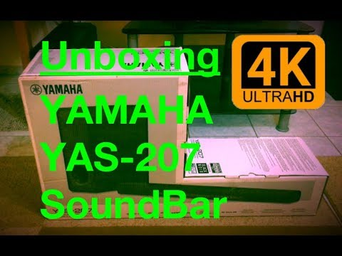 Unboxing YAMAHA YAS-207 Soundbar [DTS, Virtual:X] + Firmware update