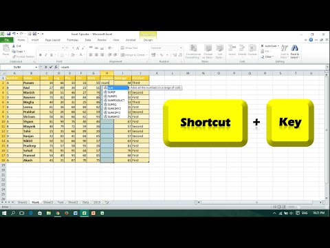 Keyboard Shortcut to Apply Formula to a Range of Cells - Microsoft Excel
