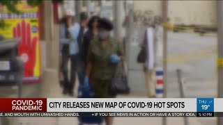 City releases new map of COVID-19 hot spots