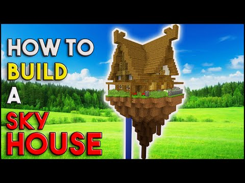 Minecraft Tutorial: HOUSE in the SKY | Survival Sky Island ( SKYWARS ) [ How To Make ]  Medieval