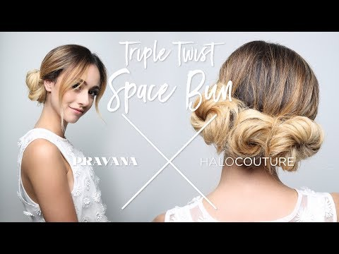 PRAVANA x HALOCouture - Triple Twist Space Bun Hair Styling How-To