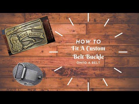 How to put a custom buckle onto a belt