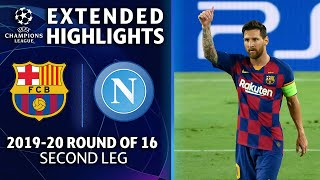 Barcelona vs. Napoli | Champions League Round of 16 Highlights | UCL on CBS Sports