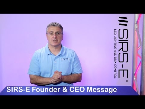 About SIRS-E Founder & CEO Video Message