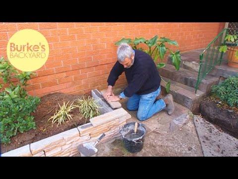 Burke's Backyard, Fake Stone Garden Edging
