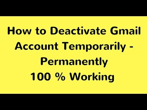 How To Deactivate Gmail Account Permanently 2018 | How to Gmail Account Suspended 2818