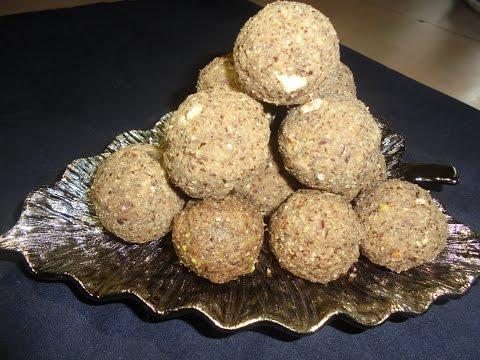 इस सर्दी में बनाइये अलसी के  पौष्टिक  लड्डू/ पिन्नी   Flaxseeds Ladoo (Protein laddu)