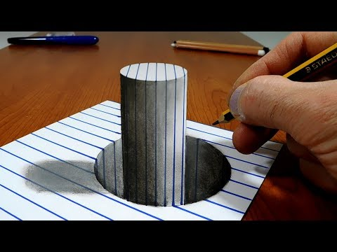 Xxx Mp4 3D Trick Art On Line Paper Stick In The Hole 3gp Sex