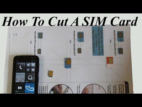 How to cut a SIM card to Nano SIM or Micro SIM