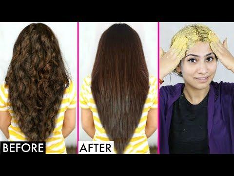 घर पर बालों को सीधा करने का आसान तरीका | Natural Straight Hair - No Heat | Anaysa