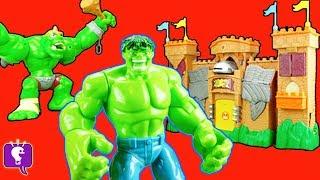OGRE + HULK Castle BATTLE! Imaginext Toy Review of Fisher Price HobbyKidsTV