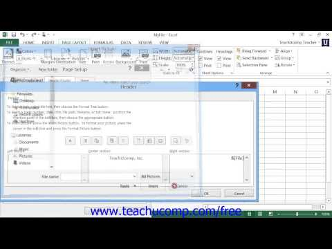 Excel 2013 Tutorial The Page Setup Dialog Box Microsoft Training Lesson 9.3