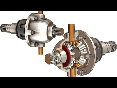 SolidWorks Tutorial # 251: differential gearbox
